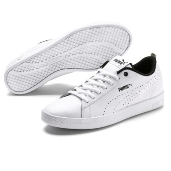 PUMA PUMA Smash V2 L Perf (WhiteWhite) Men's Shoes from 6pm | People